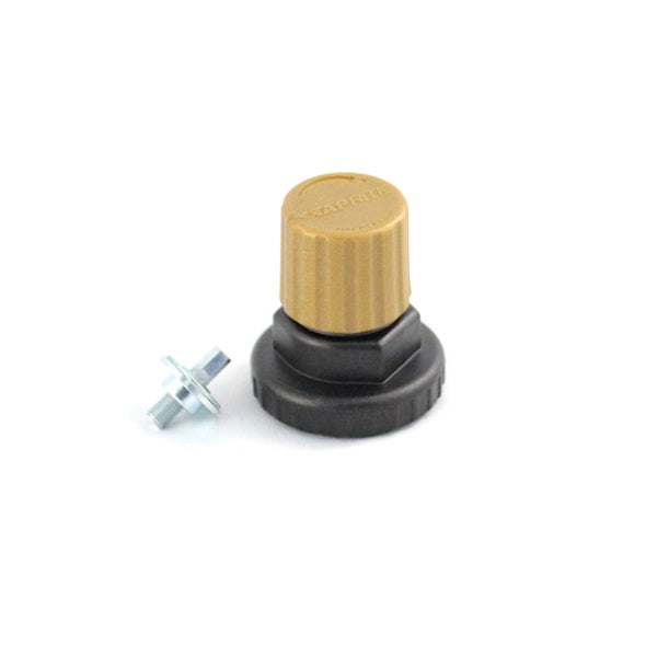 740-601 : Regulator Bonnet Assembly, Polycarbonate, Gold Cap, for All Secondary Regulators