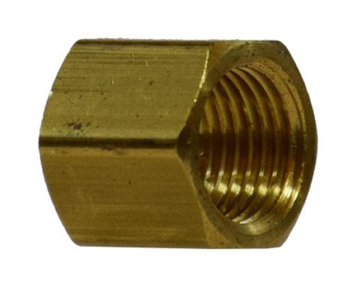 Brass 3/8 FPT Pipe Cap