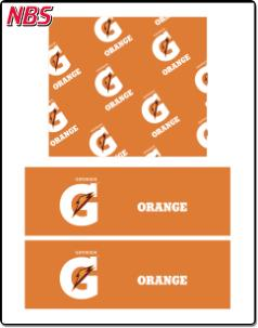 Gatorade Orange BIB Line Marker, CP011224