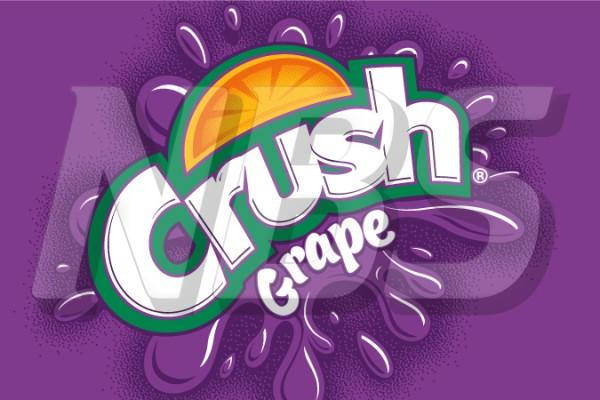 "Crush Grape 63 UF-1 Valve Decal, VI04631838A 2"" x 1 1/4"""