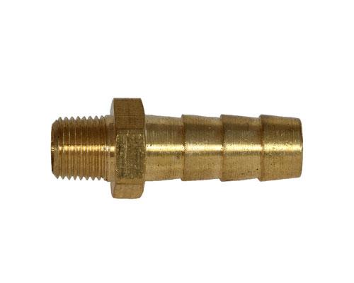Brass Hose 3/8 Barb X 1/8 MPT Adapter