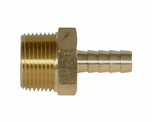 Brass Hose 3/8 Barb X 3/4 MPT Adapter | 32026