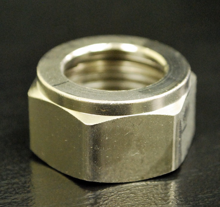 "Hex Nut, 1"" (Beer Thread, 29/32-14), Stainless Steel, Taprite, 80228SS"