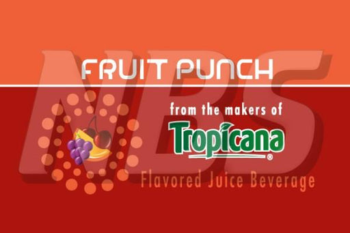 "Tropicana Fruit Punch 63 UF-1 Valve Decal, VI01632836 2"" x 1 1/4"""