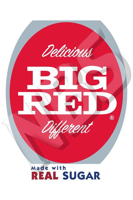 "Big Red Real Sugar Valve Decal, VI11641919 2"" x 2 7/8"""