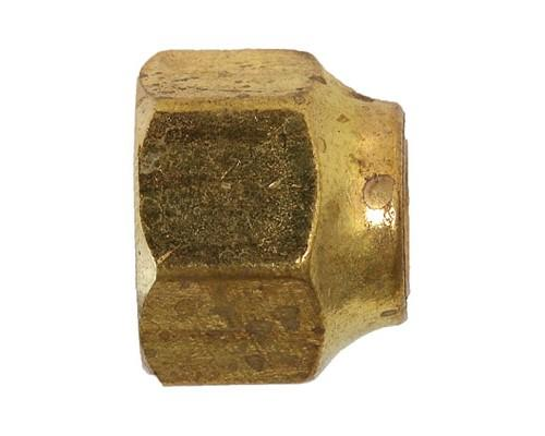 Brass 3/8 Flare Short Forged Nut, 10041