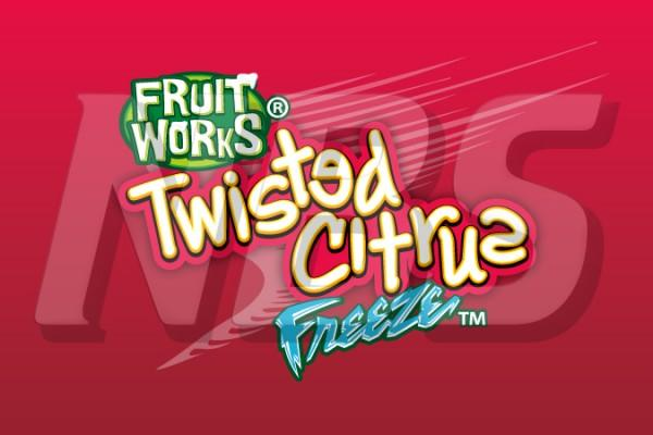 "Fruit Works Twisted Citrus Freeze 63 Valve Decal 2""x1 1/4"",VI01633002"