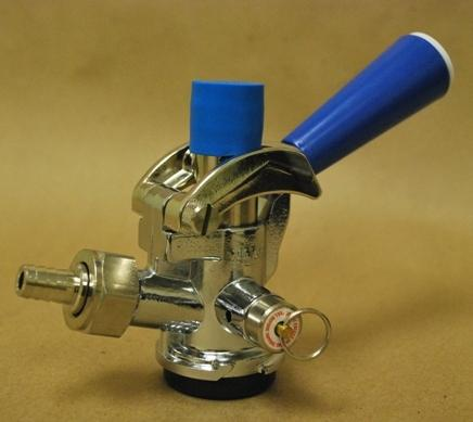 "CH5000 : Sankey ""D"" Coupler, Blue Lever Handle, for use with single valve kegs"