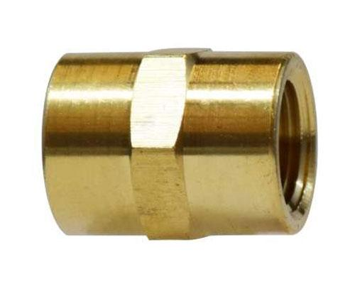 Brass 1/8 Female Pipe Coupler, E207P-2, 28058L