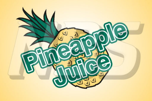Generic Pineapple Juice UF1 Back of Valve Decal