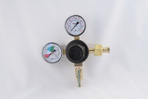 "T5741PMHPBK-01: Primary CO2 Regulator, 1P1P, High Pressure, High Performance, CGA320 Inlet, 1/4"" Barb Shut-off Outlet w/Check, 160lb and 2000lb Gauges"
