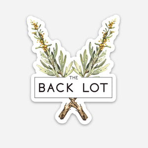 The Back Lot Logo Sticker