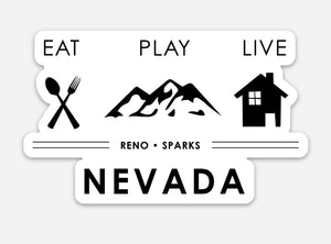 Eat Play Live - Nevada Sticker