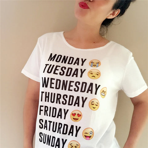 Emoji Week Shirt | Happy Comforts