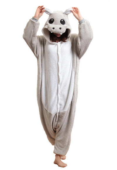 Gray Hippo Onesie | Happy Comforts