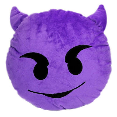 Demon Emoji Pillow Purple | Happy Comforts