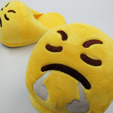 Plush Emoji Slippers | Happy Comforts