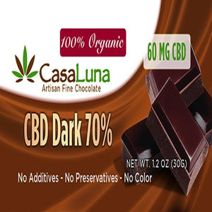 CasaLuna - CBD Chocolate Bars 60mg - Sunshine Hemp Co.
