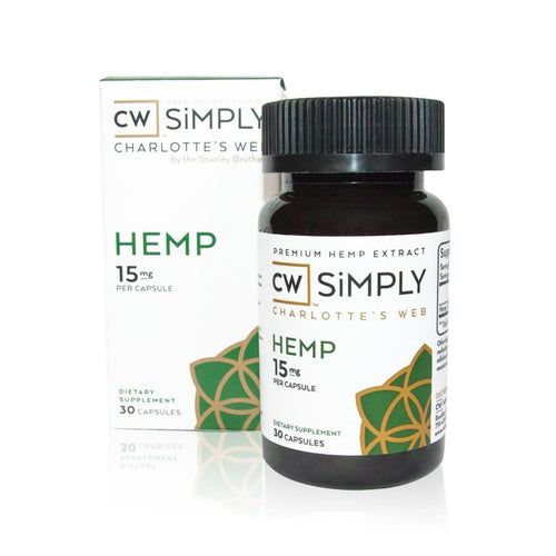 Charlotte's Web - Simply Hemp Capsules 15mg - 35mg - Sunshine Hemp Co.