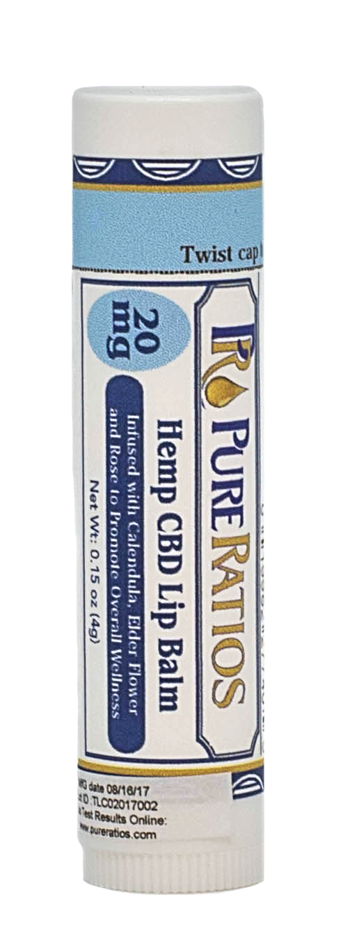 Pure Ratios - Hemp CBD Lip Balm 20mg - Sunshine Hemp Co.