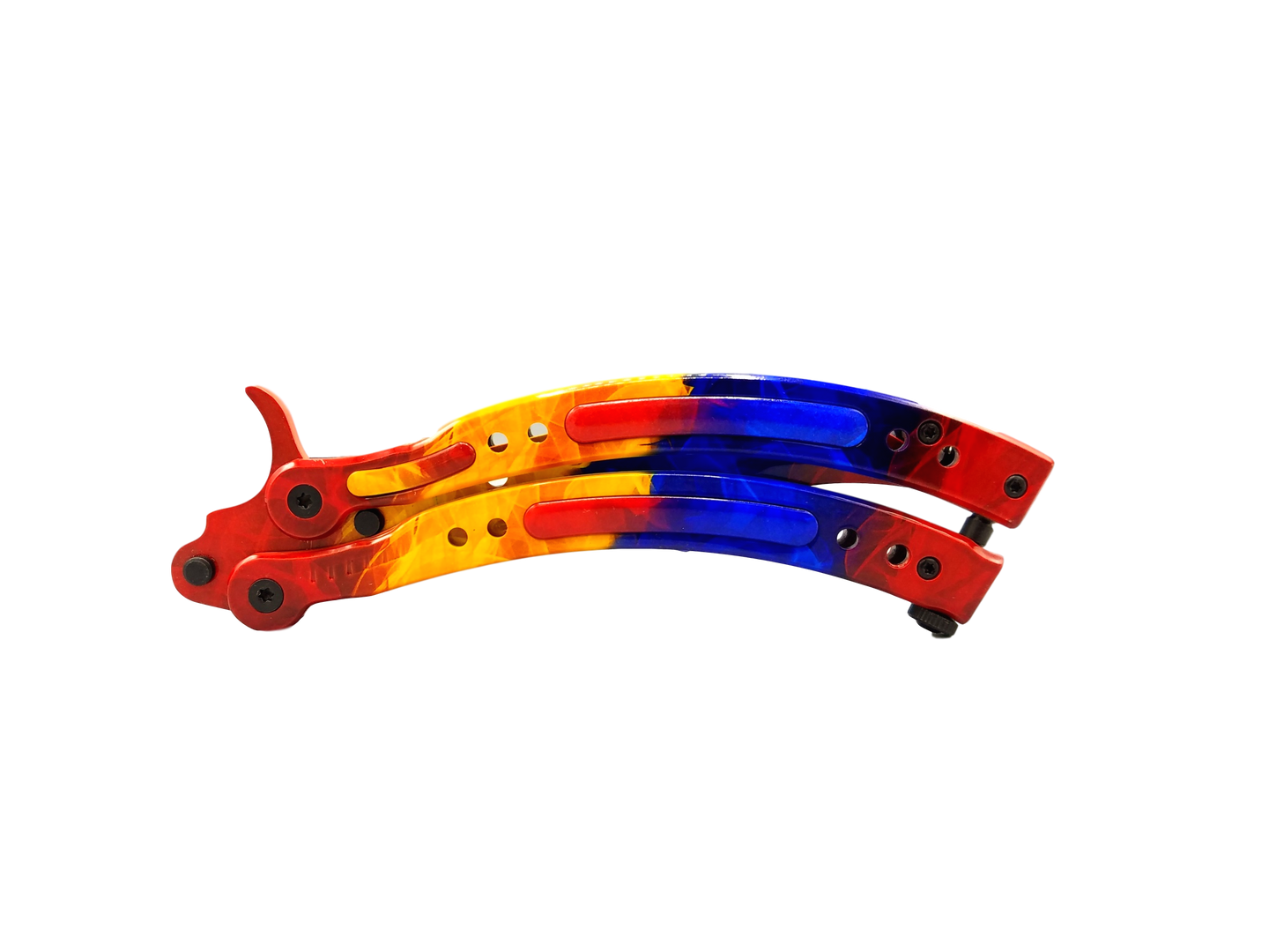 2.0 Butterfly Knife Trainer Marble Fade Full Color - ELITE OP KNIVES