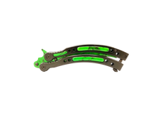 2.0 Butterfly Knife Trainer Emerald Green - ELITE OP KNIVES