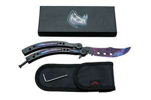 BLACK GALAXY BUTTERFLY TRAINER - ELITE OP KNIVES