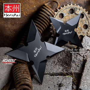 Honshu Sleek Black Throwing Star - Large (SINGLE PIECE) - ELITE OP KNIVES