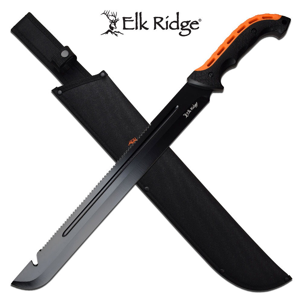 ELK RIDGE SAWED MACHETE - ELITE OP KNIVES