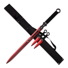 Fantasy Ninja Swords with Throwing Knives - ELITE OP KNIVES