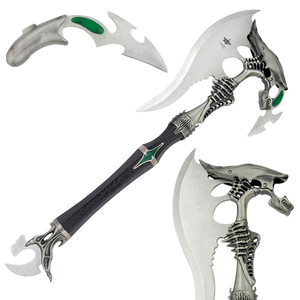 FANTASY ALIEN BATTLE AXE WITH MINI DAGGER