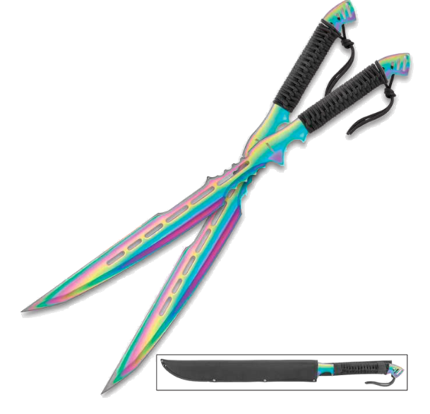 Legion 2 Piece Rainbow Samurai sword - ELITE OP KNIVES