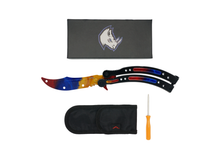 Marble Fade BUTTERFLY TRAINER - ELITE OP KNIVES