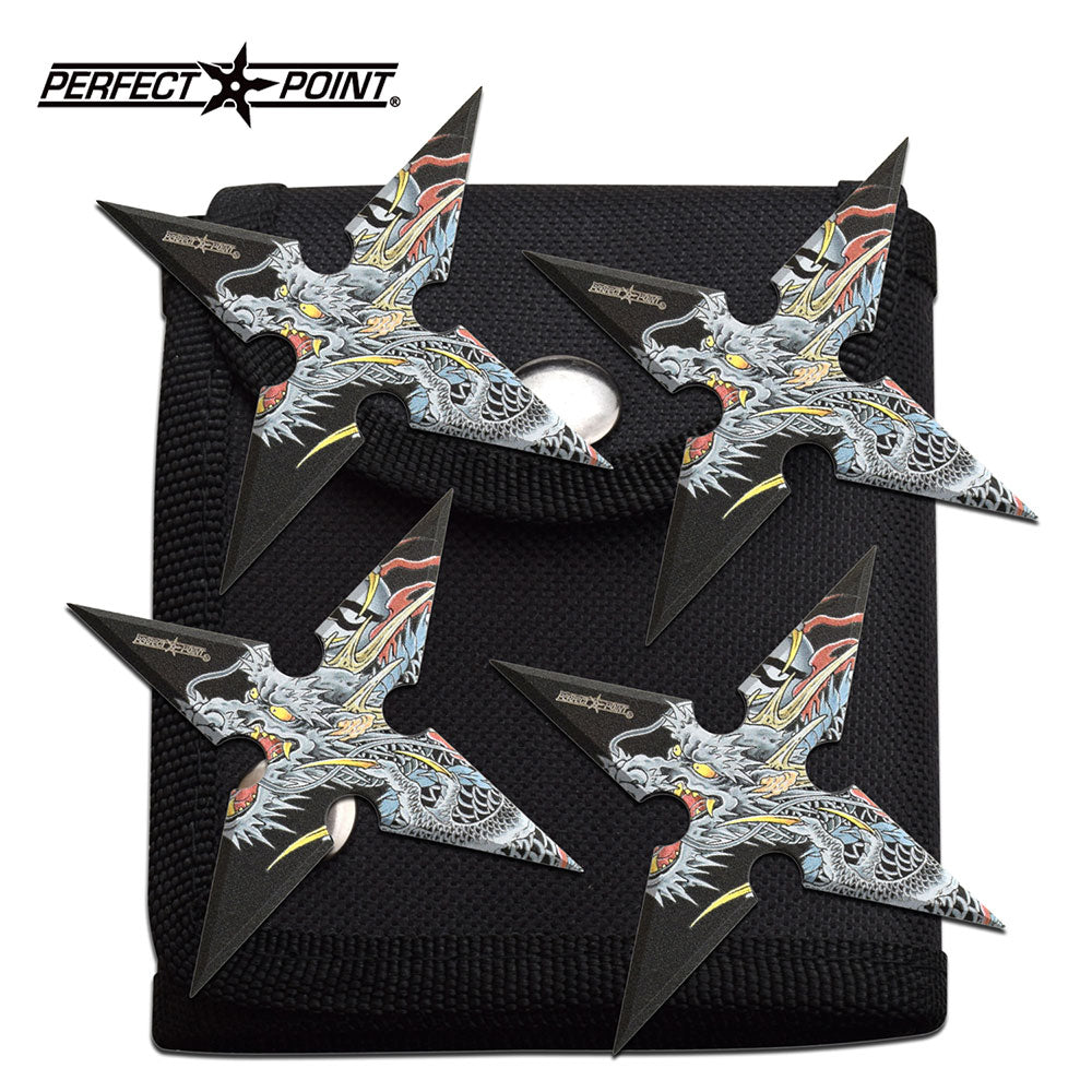 Dragon 4 Point Throwing Set (4 Piece Set) - ELITE OP KNIVES