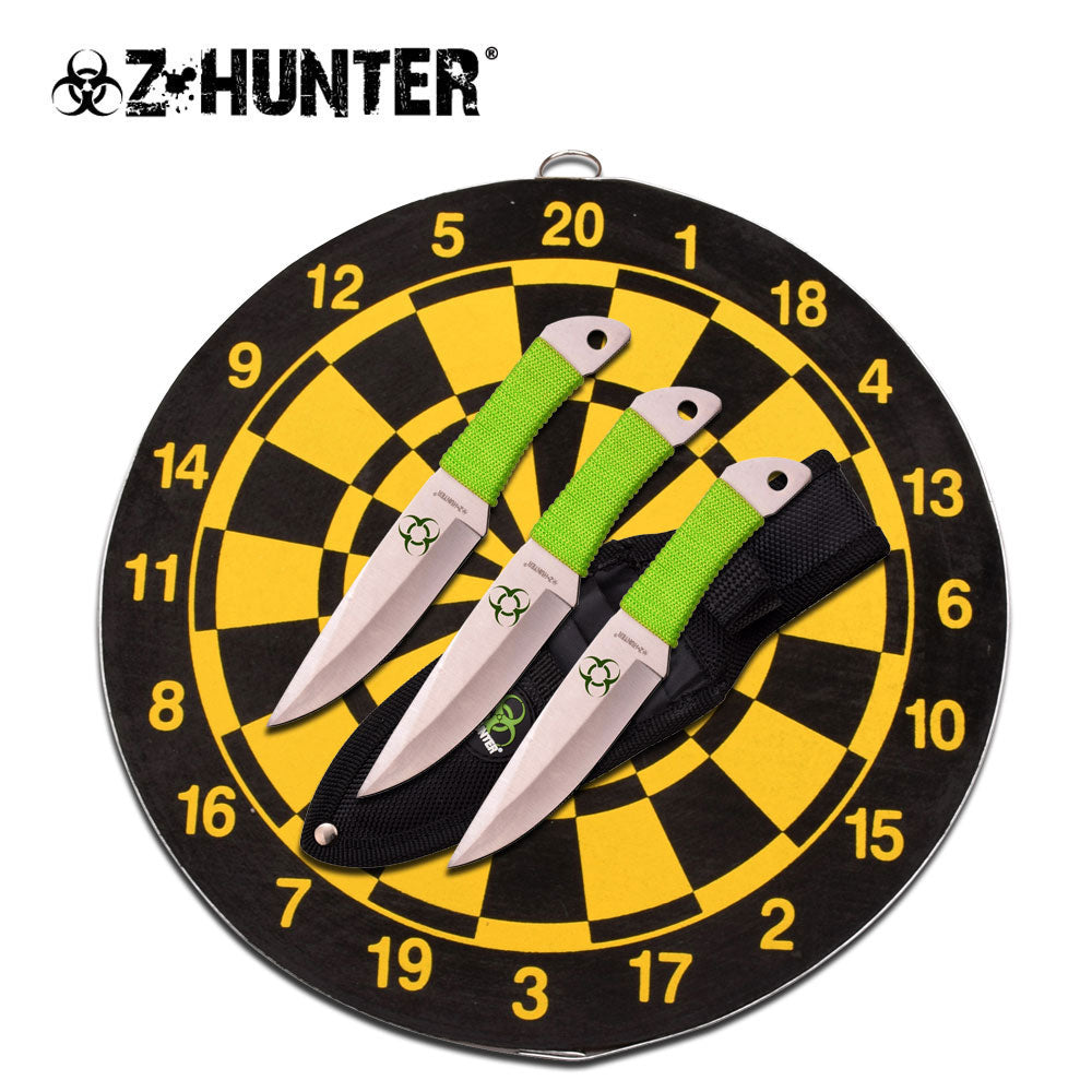 ZOMBIE THROWING KNIFE STAR BOARD - ELITE OP KNIVES