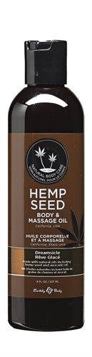 Hemp Seed Massage Oil - 8 Fl. Oz. - Dreamsicle EB-MAS002