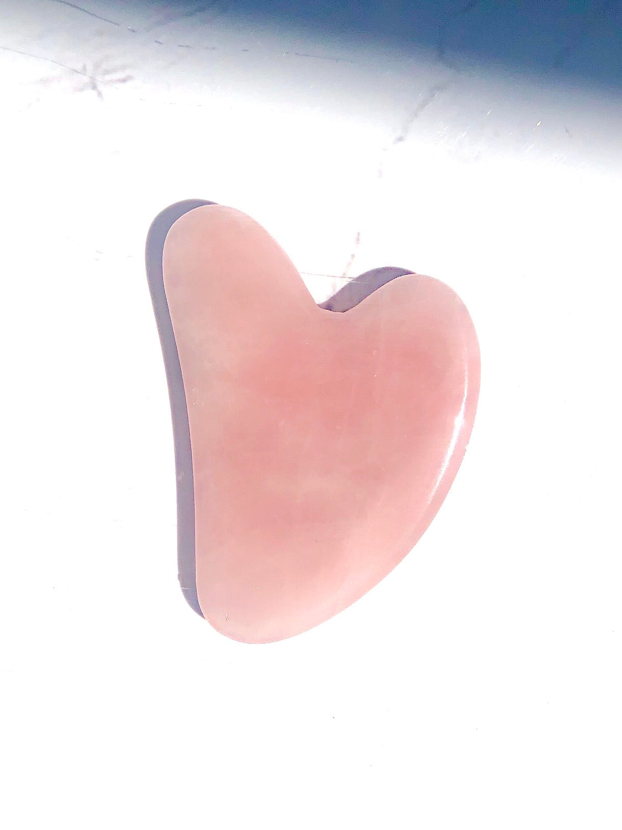 ROSE QUARTZ CRYSTAL GUA SHA FACIAL MASSAGE TOOL