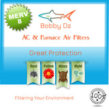 Bobby Dz 16x25x2 VP MERV 8 Pleated AC Furnace Air Filters