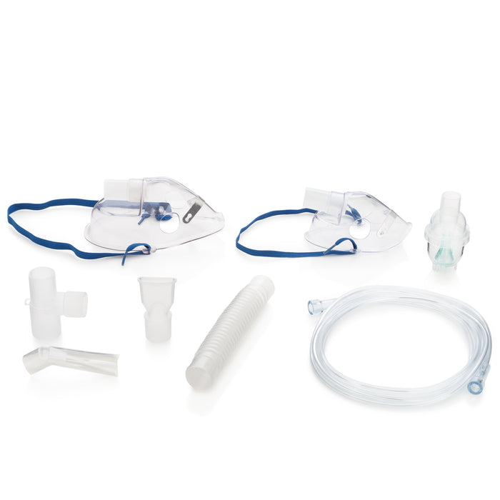 Remedium International - Compressor Nebulizer System's included accessories and tubes