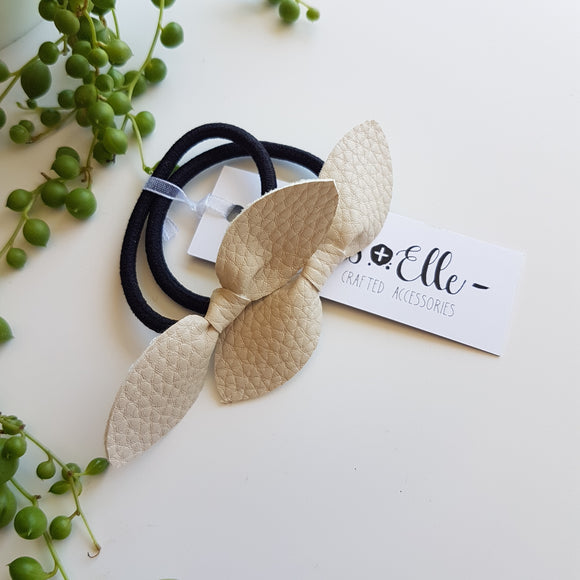 Knot Hair Ties - Bone