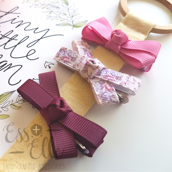 Ribbon Knot Trio - Autumn Floral