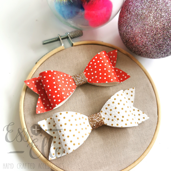 Christmas Confetti - Headband and Clips