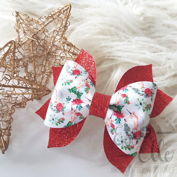 Christmas Unicorns - Clips and Headbands