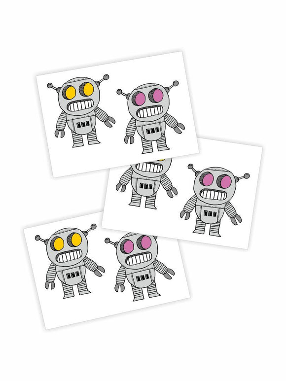 Doodle Robots - Temporary Tattoos