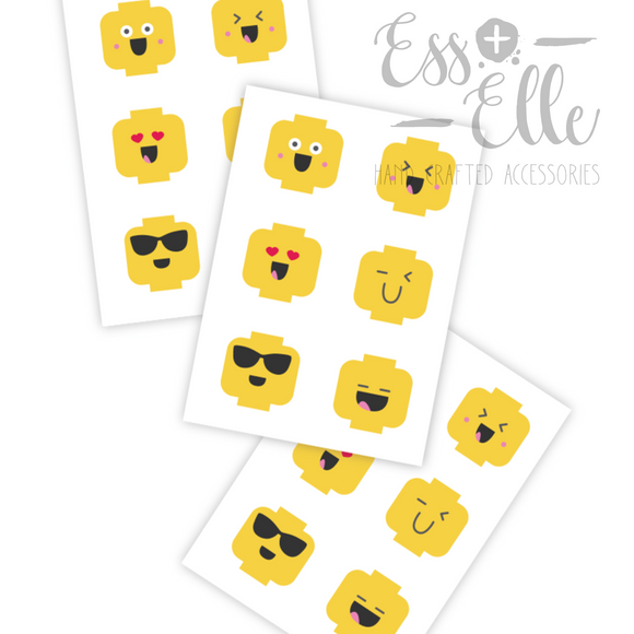 Minifig Emojis - Temporary Tattoos