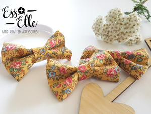 Mustard Floral - Clips & Headbands