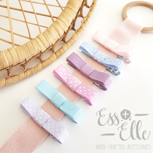 Pastel - Ribbon Clip Set