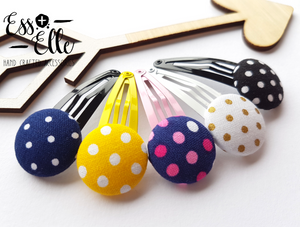 Polka Dot - Button Hair Clips