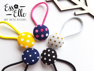 Polka Dot - Button Hair Ties