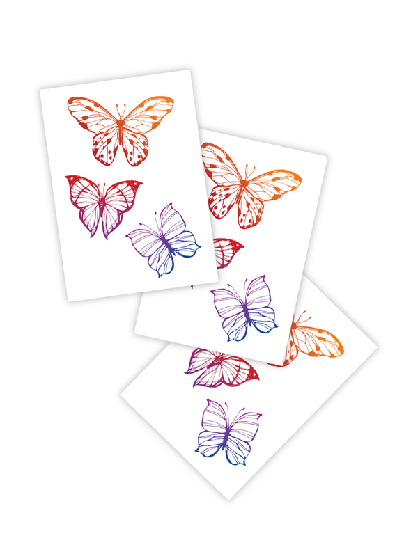 Rainbowflies - Temporary Tattoos